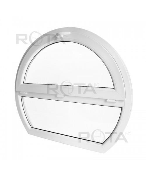 Okno łukowe fix 90x85cm PCV białe łuk gotycki