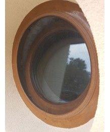 Okno okrągłe rozwierne PCV białe ze szprosami międzyszybowymi