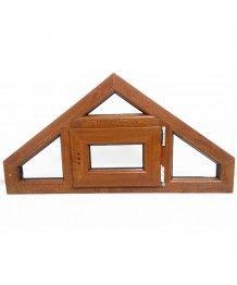 Okno trapezowe - trójkątne rozwiere 1080x550 PVC