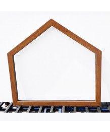 Okno trapezowe FIX 116x110cm PCV kolor jednostronny - złoty dąb
