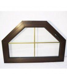 Okno trapezowe 125x83cm uchylne PCV ze szprosami