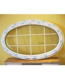 Okno owalne uchylne 160x90cm PCV ze szprosami